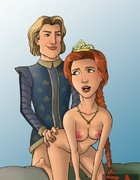 Prince Charming and King Harold fucking Queen…
