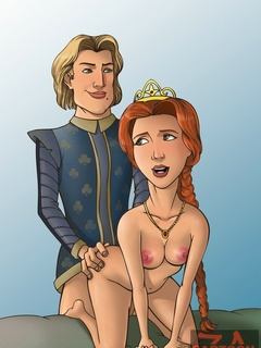 Prince Charming and King Harold fucking Queen - Cartoon Sex - Picture 2