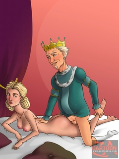 Prince Charming and King Harold fucking Queen - Cartoon Sex - Picture 3