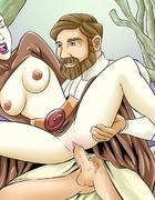 Obi-Wan Kenobi sticks his big hard cock into hot chick in hot banging