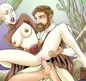 Obi-Wan Kenobi sticks his big hard cock into hot…