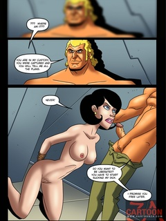 Dr. Girlfriend with hands tied behind her - Cartoon Sex - Picture 1