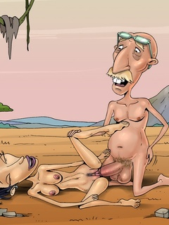 Old Radcliffe fucks chick as Nigel Thornberry - Cartoon Sex - Picture 1