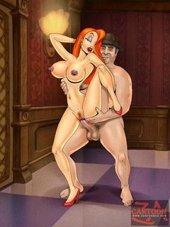 Judge Doom and Eddie Valiant enjoy fucking - Cartoon Sex - Picture 1