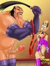 Mulan in bondage as Shang and Shan Yu lord over…
