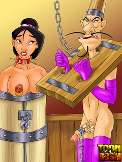 Mulan and Chi Fu enjoy kinky bondage, pins - Cartoon Sex - Picture 3