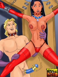 Pocahontas and John Smith in juicy erotic - Cartoon Sex - Picture 1
