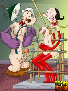 Popeye and Olive Oyl take turn binding each - Cartoon Sex - Picture 2