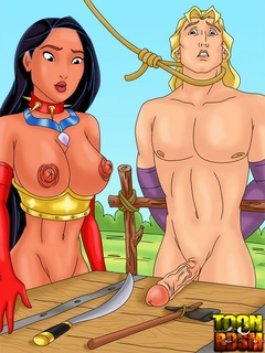 Pocahontas and John Smith in juicy erotic - Cartoon Sex - Picture 2