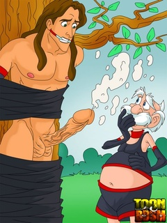 Jane Potter watches Tarzan tied to tree with - Cartoon Sex - Picture 3