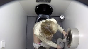 Hot slender sluts getting stalked on the toilet. - XXXonXXX - Pic 1