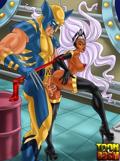 Wolverine and Storm in hot fuck action before - Cartoon Sex - Picture 1