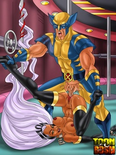 Wolverine and Storm in hot fuck action before - Cartoon Sex - Picture 2