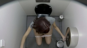 Magnificent sluts getting spied on in the toilet by a hidden camera. - XXXonXXX - Pic 1