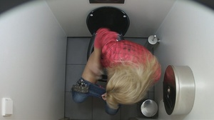 Skinny beauties getting spied on in the toilet. - XXXonXXX - Pic 2
