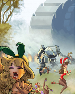 Enslaved bunny girls in the paradise garden - Cartoon Sex - Picture 2