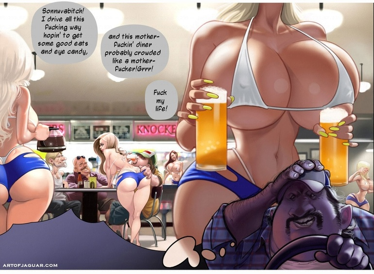 Dirty rocking of hairy driver with a group of - Cartoon Sex - Picture 3