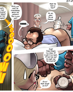 Slutty nurse and a black doctor giving an - Cartoon Sex - Picture 2