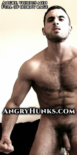 Hairy hot dude with muscular body displaying his big cock. - XXXonXXX - Pic 1