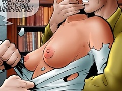 Hot redhead in cuffs getting punished badly - Cartoon Sex - Picture 2