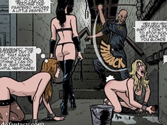 Lots of naked chicks are kept in the dungeon - Cartoon Sex - Picture 1