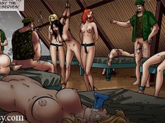 Poor girls getting banged and tortured day - Cartoon Sex - Picture 1