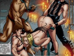 Three kinky masters fucking and torturing - Cartoon Sex - Picture 1
