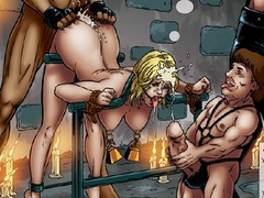 Three kinky masters fucking and torturing - Cartoon Sex - Picture 2