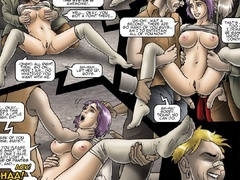 Cartoon enslaved girls seem to be in the bdsm - Cartoon Sex - Picture 4