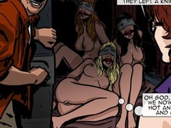 Hot blondie with her hands roped behind her - Cartoon Sex - Picture 1