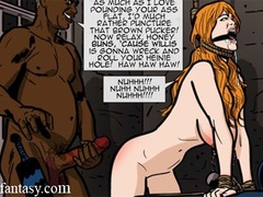 Horny black bastard beating blonde bound - Cartoon Sex - Picture 2