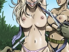Poor naked chicks bound, suspended and - Cartoon Sex - Picture 3