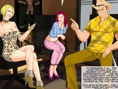 Naked redhead bound to a cross whipped before - Cartoon Sex - Picture 3