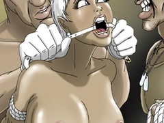 Hot chicks in bondage and with gag-balls - Cartoon Sex - Picture 2