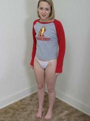 Blonde teen with bushy pussy undresse to show off - XXXonXXX - Pic 1