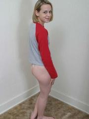 Blonde teen with bushy pussy undresse to show off - XXXonXXX - Pic 6