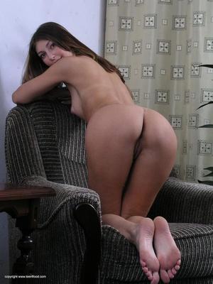 Lovely brunette freshie undresses to present her fresh body - XXXonXXX - Pic 17