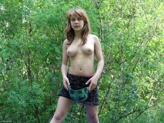 Busty teen posing naked in a military helmet in - XXXonXXX - Pic 8