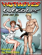 White couple John and Jill spices up their bedroom with big hard black