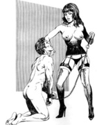 Kinky chicks play queen master over men binding them and making him eat