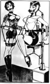 Extreme bondage action as chicks get restrained and bound using harsh