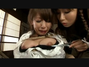 Asian girl watching her friend stuffing her cunt with a salad - XXXonXXX - Pic 8