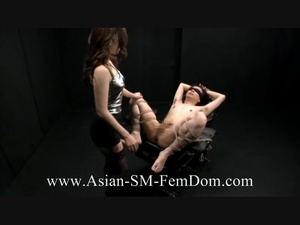 Dirty Asian bitch playing with dude's cock bound in karada style - XXXonXXX - Pic 1