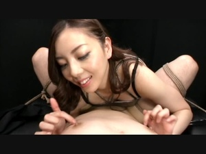 Dirty Asian bitch playing with dude's cock bound in karada style - XXXonXXX - Pic 3