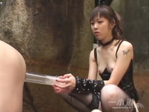 Ponytailed Asian mistress peeing and fucking dude's asshole with a strapon - XXXonXXX - Pic 7