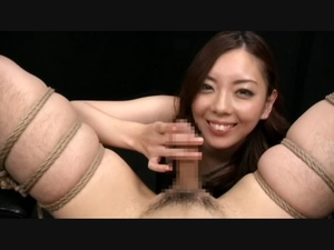 Dirty Asian bitch playing with dude's cock bound in karada style - XXXonXXX - Pic 5