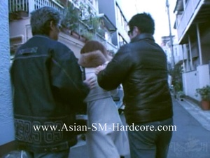 Hot Asian babe seized in the street bound with sticky tape and fucked with vibros - XXXonXXX - Pic 1