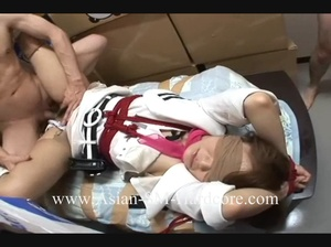 Asian college girl in bondage and blindfold banged very roughly - XXXonXXX - Pic 8