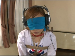 Ponytailed Japanese cheerleader bound and tortured with various bdsm tools - XXXonXXX - Pic 1