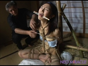 Asian cutie bound hands and feet facefucked and jeered badly - XXXonXXX - Pic 5